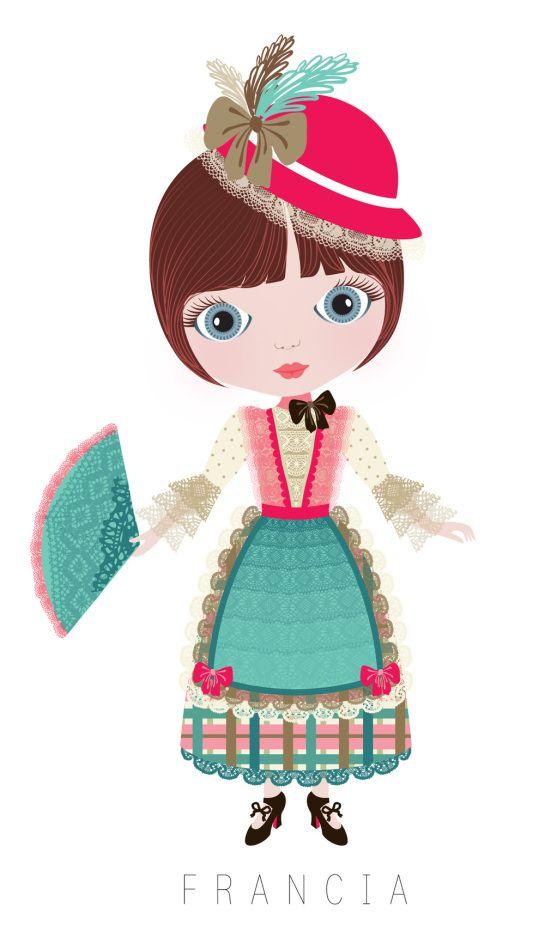 France Travel Doll ~ by Veronica Alvarez