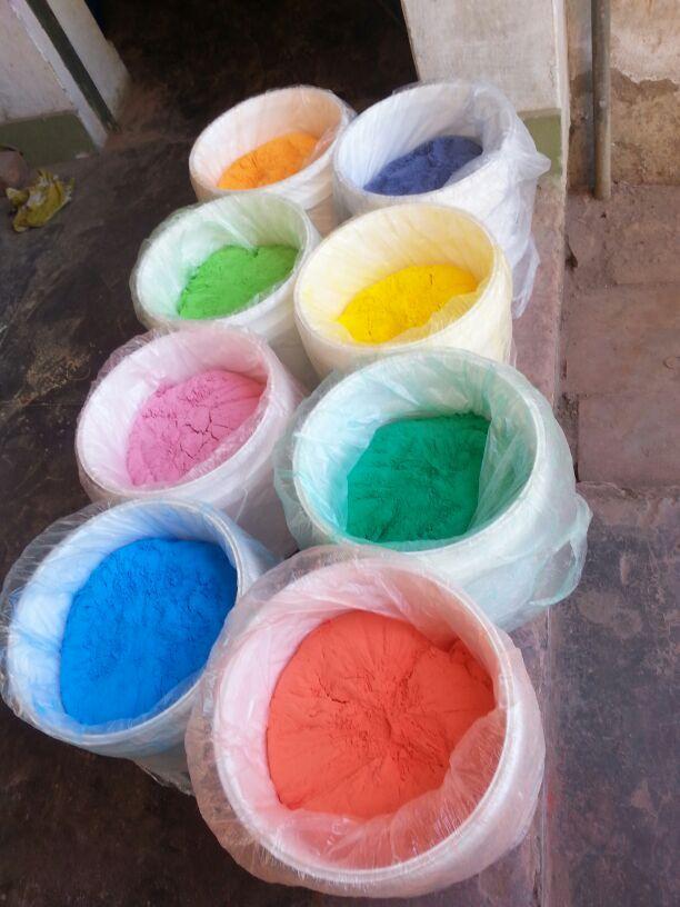 10 kilo buckets of Holi Colors / Holi Powders / Herbal Gulal