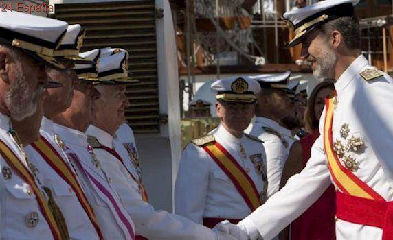 El Rey celebra en Marín los 90 años del buque escuela Juan Sebastián Elcano
