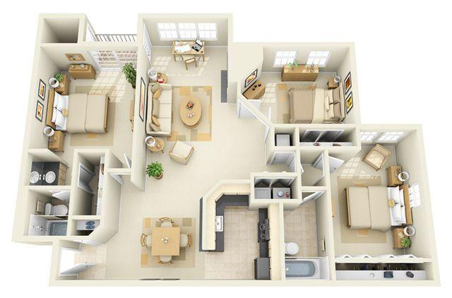 Nếu thích một không gian đơn giản với những tông màu nhẹ nhàng thì đây có lẽ là một gợi ý hoàn hảo dành cho bạn. Để ý rằng, thiết kế của ngôi nhà này còn có rất nhiều tủ để áo quần được làm âm tường nhằm tiết kiệm diện tích.