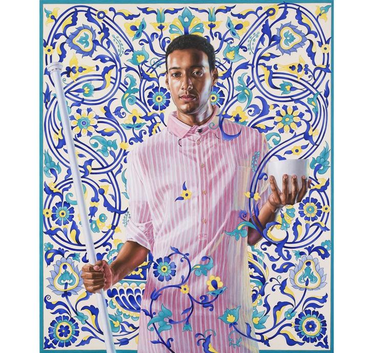 Kehinde Wiley http://www.vogue.fr/culture/a-voir/diaporama/the-world-stage-l-histoire-reinventee-par-kehinde-wiley-a-la-galerie-daniel-templon/10612/image/645195#!emperor-napolean-i-2012