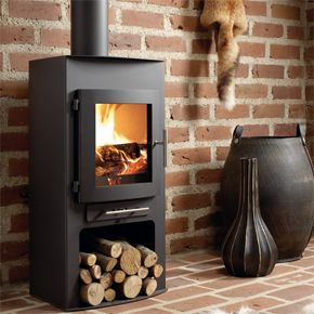 Westfire Uniq 18 Standard - The Westfire Uniq 18 Woodburning Stove is a compact wood stove. At 950mm high it is ideal for a smaller fireplace and an output of 5kW makes it suitable for smaller rooms. It has a slightly curved front and curved door, and is also a convection stove with high levels of efficiency due to it's advanced combustion system meeting the high standards now demanded in Europe (EN-13240).