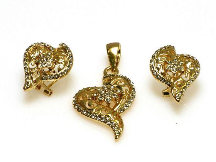 Biżuteria wykonana ze stali szlachetnej. http://sklepmarcodiamanti.pl/produkt/zw-18-k-zloty-komplet-k521/