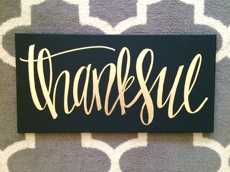 Thankful- 12x24 chalkboard style canvas, black and white, black and gold, thanksgiving decor, fall decor, fall canvas, fall quote canvas, by ADEprints on Etsy https://www.etsy.com/listing/245447548/thankful-12x24-chalkboard-style-canvas