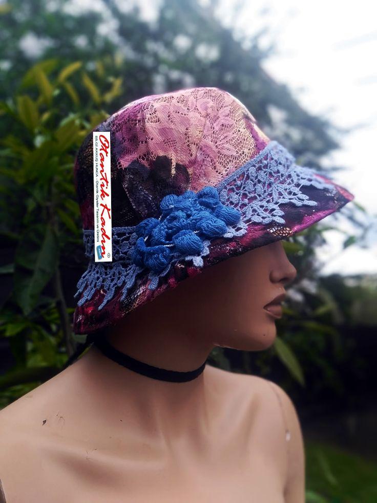 Otaktik Tasarım Şapka - Pembe- Mavi -OS210417-2 | Otantik Kadın, Otantik Giysiler, Elbiseler,Bohem giyim, Etnik Giysiler, Kıyafetler, Pançolar, kışlık Şalvarlar, Şalvarlar,Etekler, Çantalar,şapka,Takılar