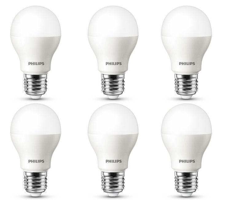 ¡Chollito! Pack de 6 bombillas LED Philips de luz cálida con casquillo E27 40W A+ por sólo 30,73 euros. 5 euros por bombilla!