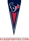 """Texans Yard Pennants 34"""" x 14"""""""