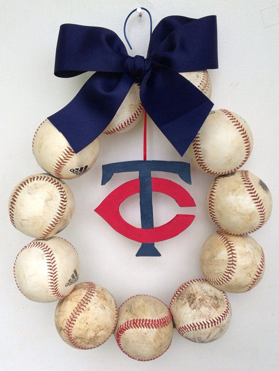 Minnesota Twins Baseball Wreath by NTgoodthings on Etsy
