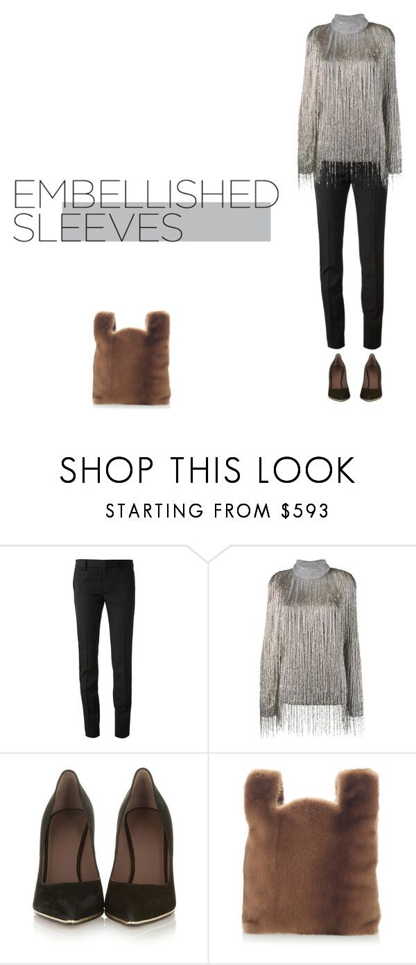 """""""Jane Horrocks."""" by didjazaw ❤ liked on Polyvore featuring Yves Saint Laurent, Valentino, Givenchy and Simonetta Ravizza"""