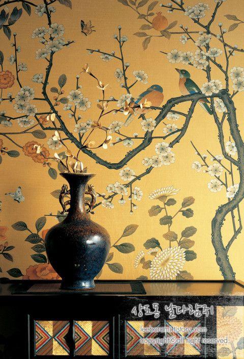 wallpaper, korean folk art