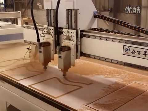 1325 Digitally Controlled CNC Router working on a wooden door http://www.roc-tech.com/product/product50.html http://www.cnc-milling-machine.org 5 axis CNC Router cnc milling machine