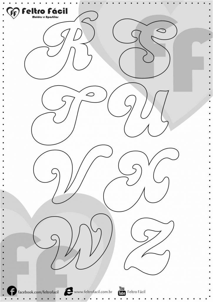 Molde de Letras - Seleção de Moldes de Letras para Artesanato em Feltro!