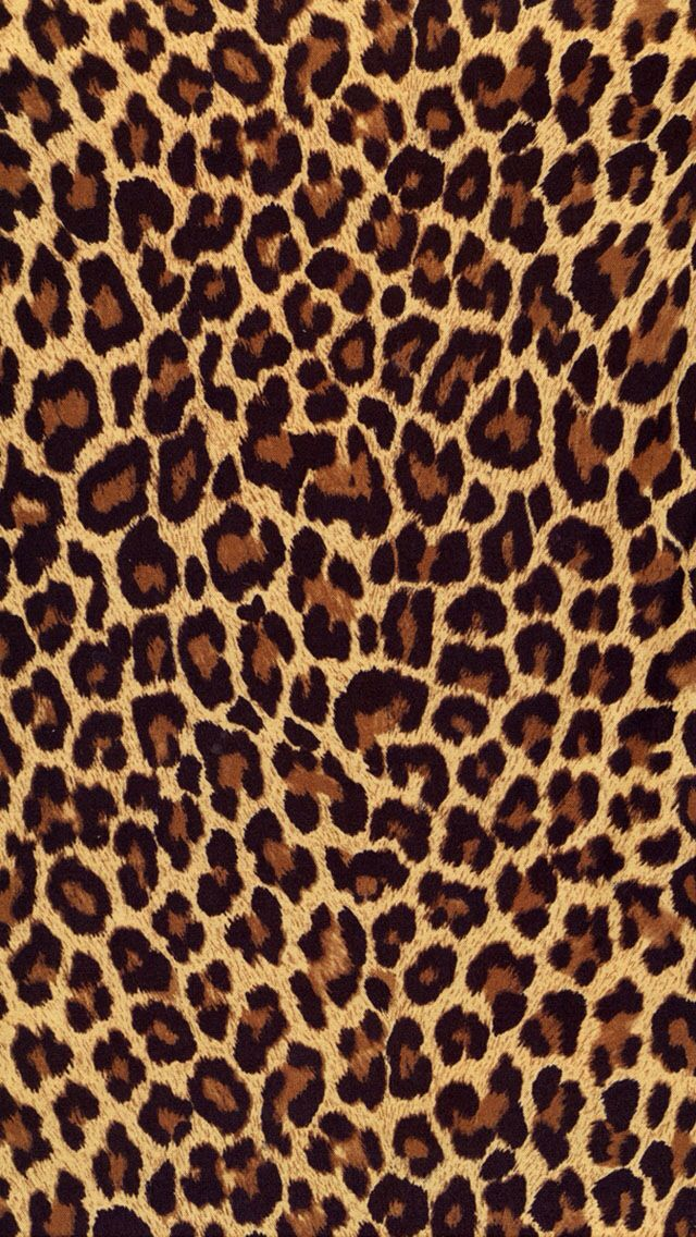 Leopard Print iPhone 5 Wallpaper