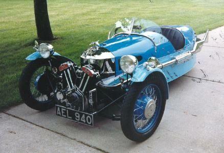 STRANGE OLDE CLASSIC AUTOMOBILES - 1934 MORGAN SUPER SPORT - 3 WHEELER