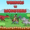 Jogue Vikings vs Monsters online no Lejogos! Defenda sua aldeia viking contra monstros e tente sobreviver quantas ondas puder neste jogo online de estratégia desafiador!