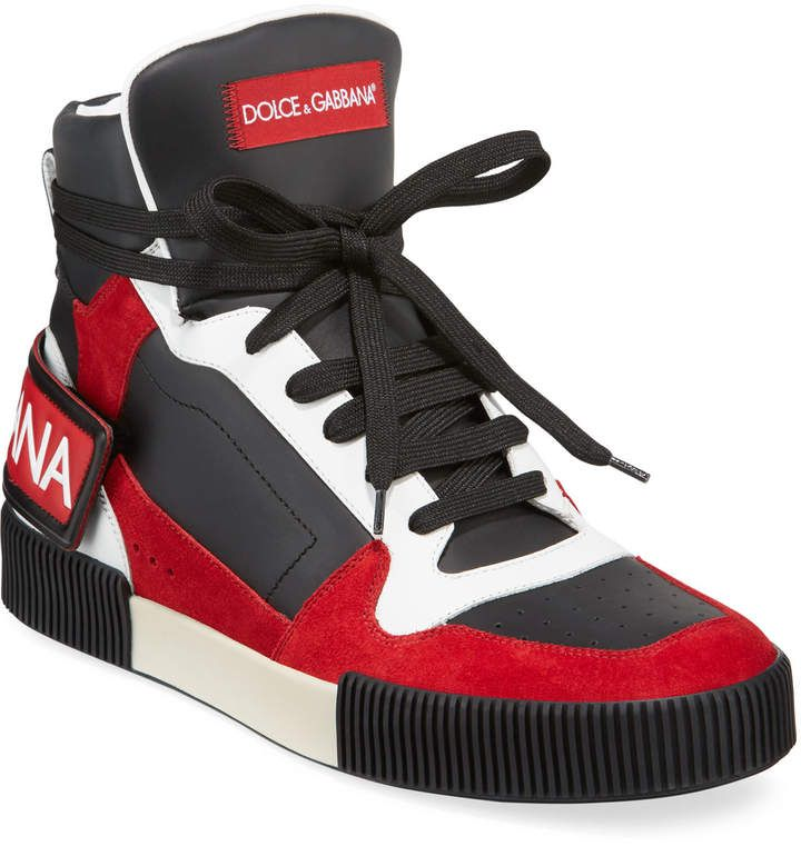 Leather sneakers, Dolce and gabbana man