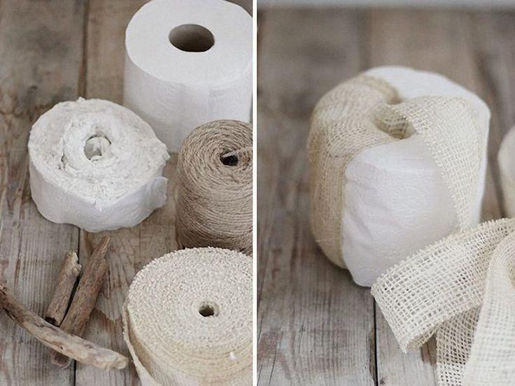 DIY tutorial: Make A Decorative Pumpkin From Toilet Paper via DaWanda.com