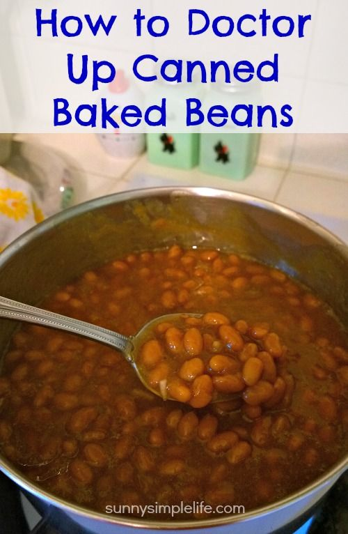 A few additions on how to improve canned baked beans and you will never go back to plain baked beans from the can.