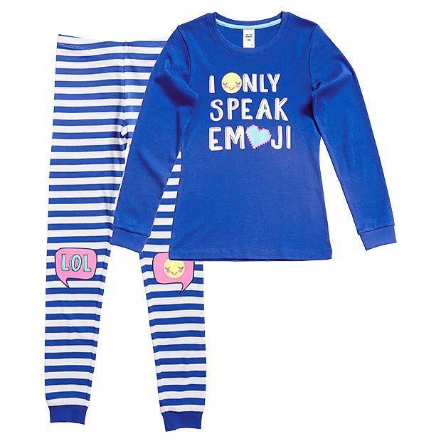Emoji Chat Long Sleeve Pyjama Set