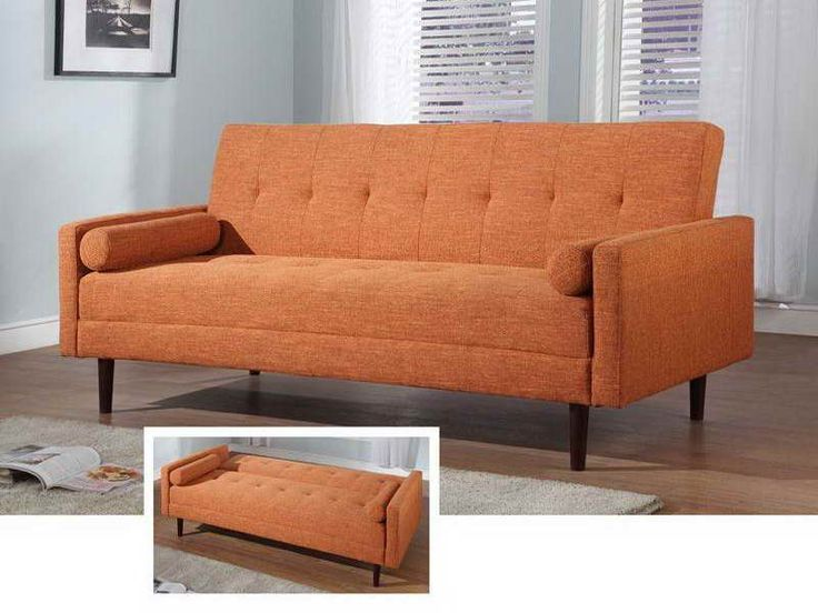 small sleeper sofa small sleeper couch with orange colour