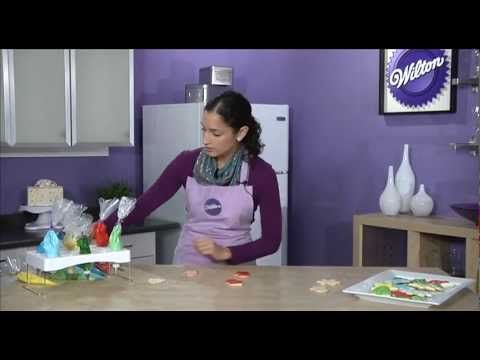 How to Use Color Flow Icing. See how easy it is to decorate shiny and bright cookies in this video demonstration.
