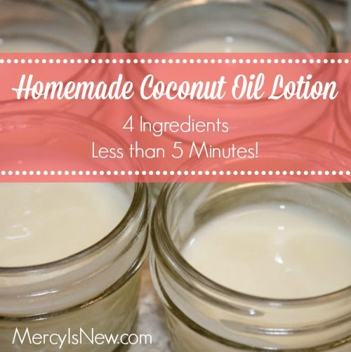 Homemade Coconut Oil Lotion {it works!}