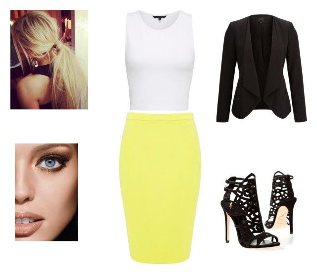 """""""Untitled #20"""" by skirmantesatkute ❤ liked on Polyvore featuring French Connection, Forever New, SELECTED, Brian Atwood and Maybelline"""
