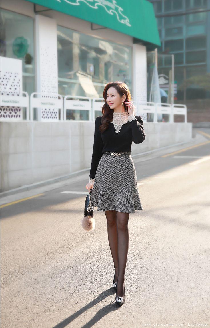 72 Best Images On Pinterest Brooches Brown Hair And Female Kemeja Lavender Contrast Multicolor Shop At Velvet Korean Womens Fashion Shopping Mall Styleonme