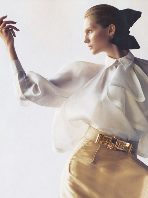 """""""Poised To Perfection"""". Karolin Wolter by Nathaniel Goldberg for Vogue Nippon"""