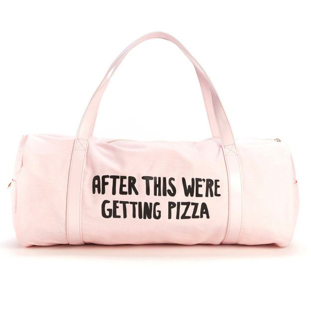 This gym bag that TOTALLY understands your priorities — $28 | 17 Super Cute Gym Bags So You Can Work Out In Style