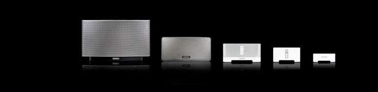 Sonos wireless speaker system - runs sound from your computer on your existing wireless system. Add in speakers as you go. Good for my start-small and build up approach?