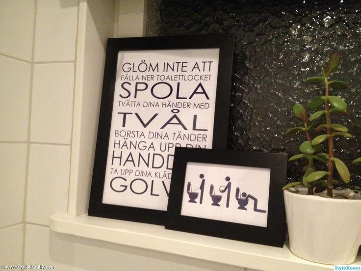 badrum,toalett,tavla,tavlor,svart,vitt,grått,fönster,hissgardin,hemmagjort,pyssel,handdukskrok,kakel