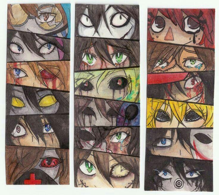 Creepypasta characters, eyes; Creepypasta