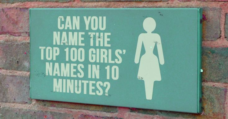 How Many Of The Top 100 Girls' Names Can You Name In 10 Minutes?