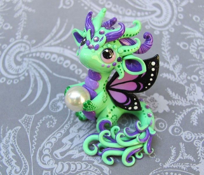 Green Butterfly-dragon Sculpture