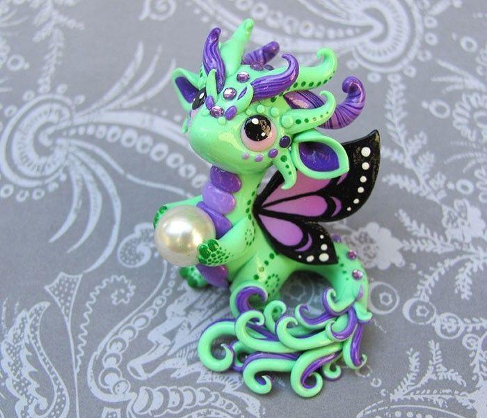Green Butterfly-dragon Sculpture