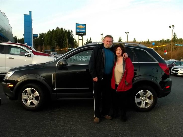 Kathy & Ted's new 2013 Chevrolet Captiva! Congratulations and best wishes from Grey Chevrolet Inc and Mark Newcomer.