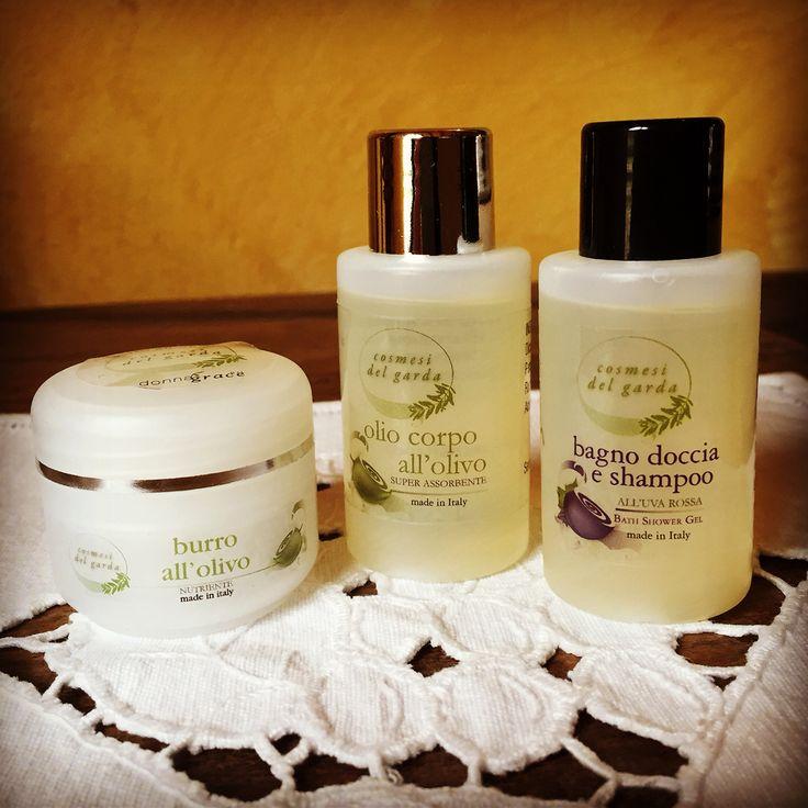 Bath soap, body lotion and shampoo made by natural products.