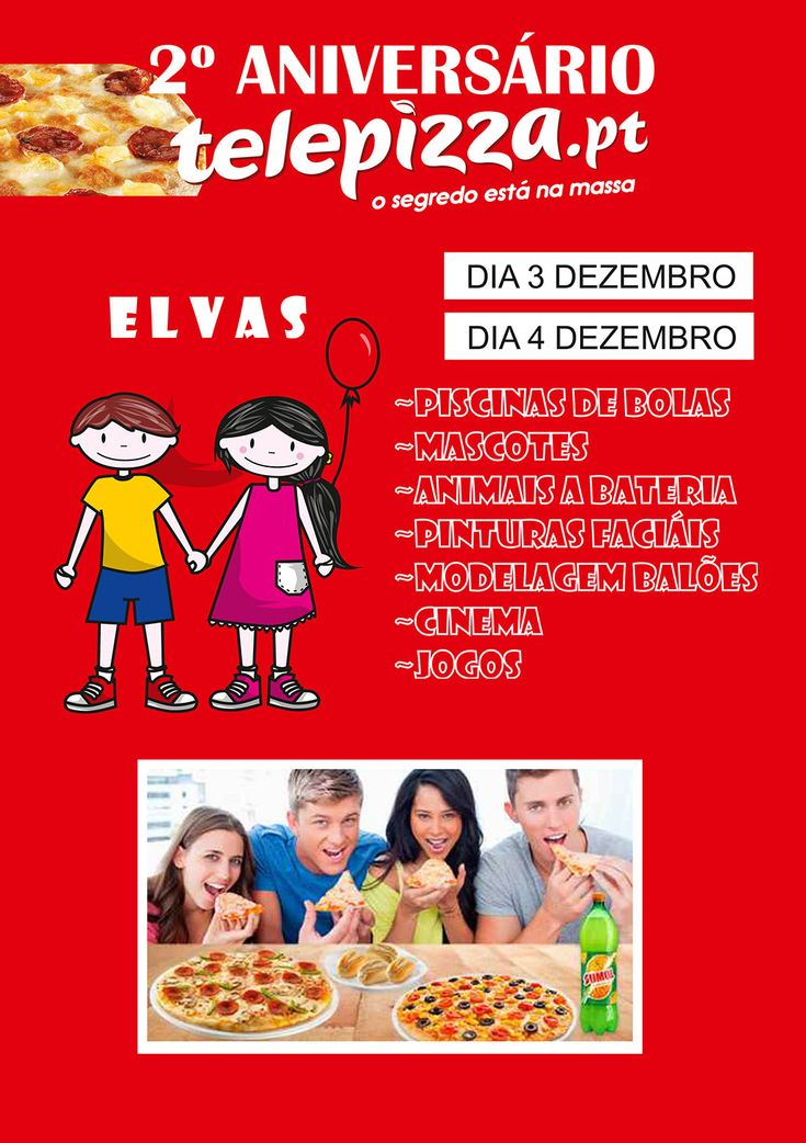 Elvas: Telepizza está a comemorar segundo aniversário e tem prendas para si   Portal Elvasnews
