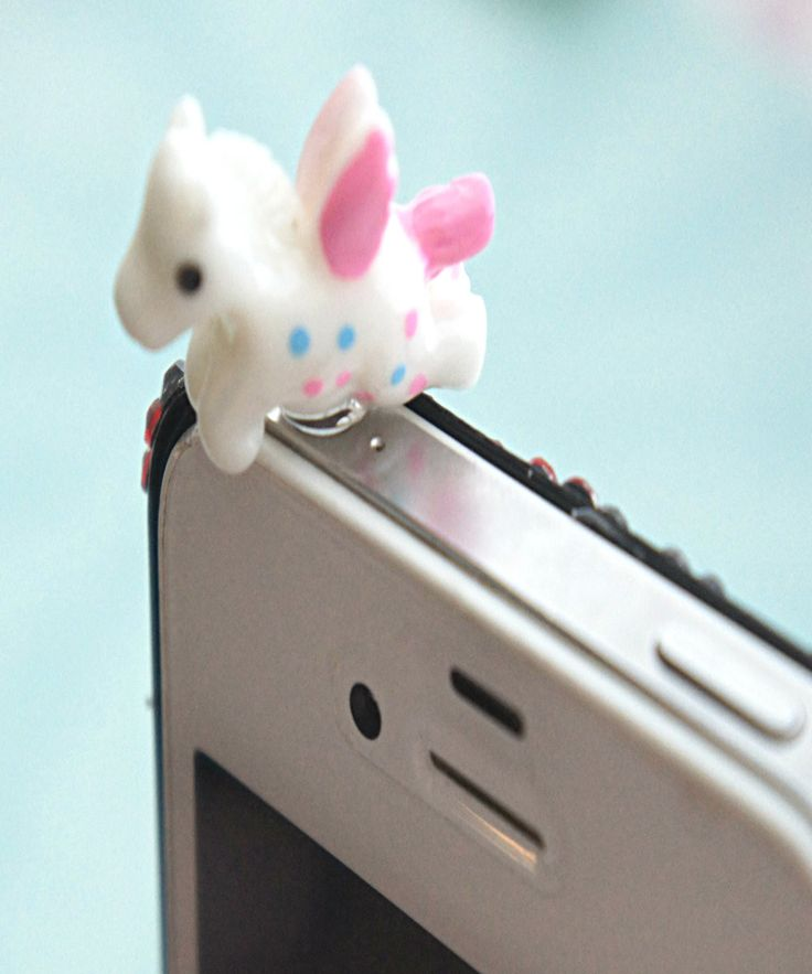 this phone plug features a cute unicorn character. it measures about 1.2 cm tall it works as a decoration and protection for your phone/ device's earphone port.