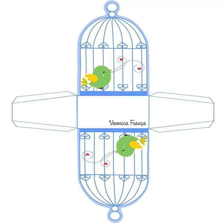 Miniature Printables - Birdcage. molde caixinha gaiola, birds cage, Vogelkäfig