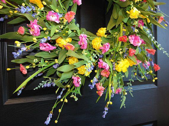 lente krans Moederdag kransen voor voordeur kransen decoraties muur bruiloft bloemen regeling