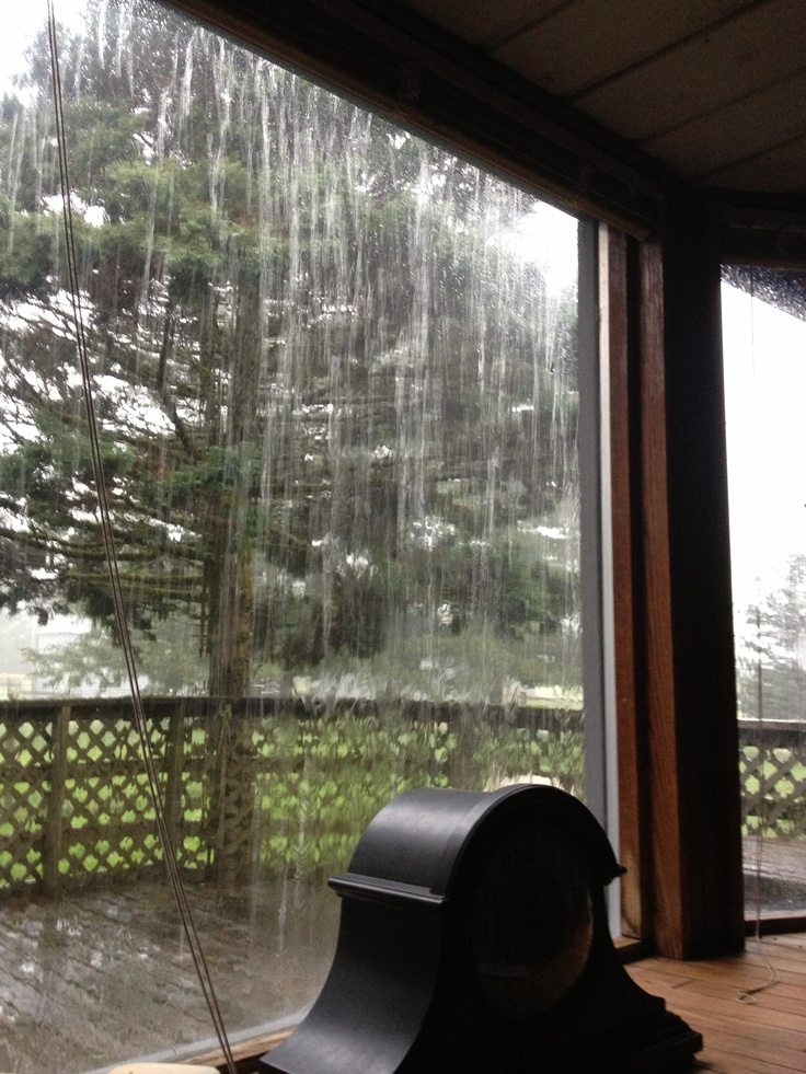 .Can't you just hear the rain?!