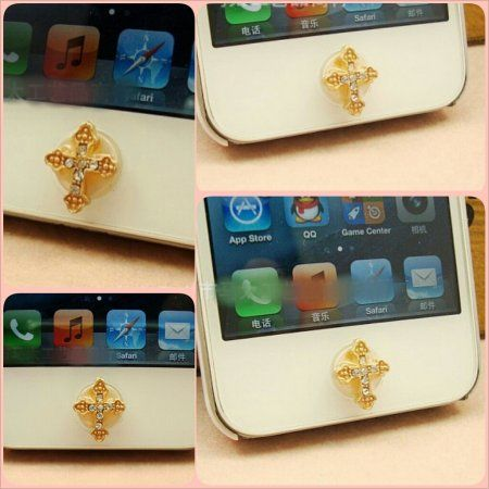 Cross Jewelry Home Button for Apple
