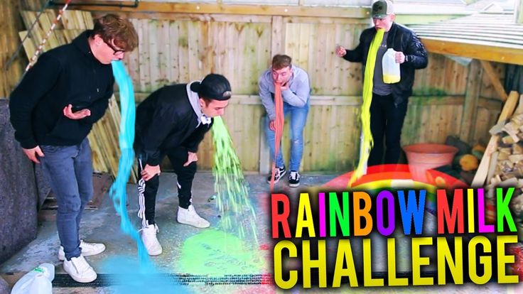 RAINBOW MILK CHALLENGE!!