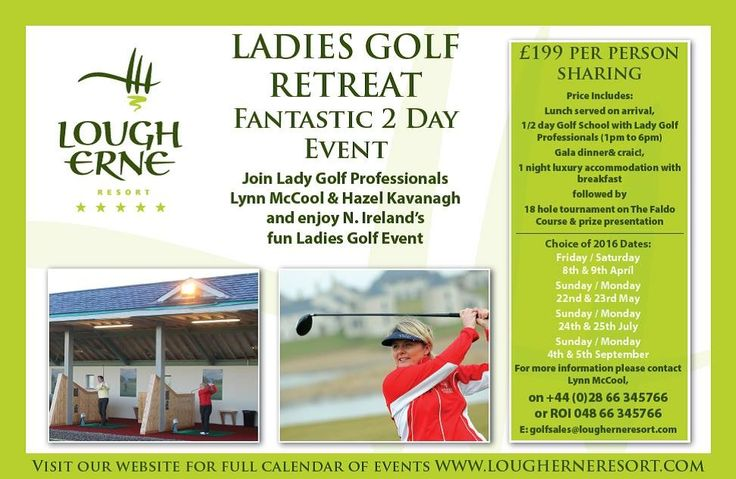 Ladies golf returns to @Lougherneresort for 2016 - Book now