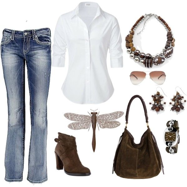 Country Casual, created by leisa-708 on Polyvore