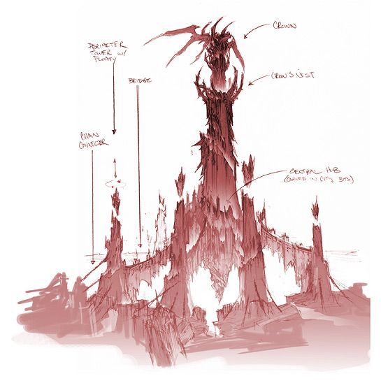 Character Design Environment : Darksiders concept art by paul richards