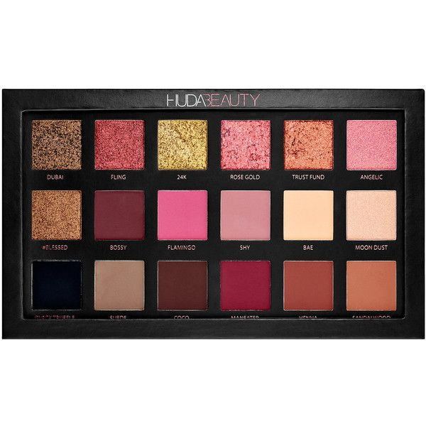 Huda Beauty Eyeshadow Palette Rose Gold Edition Eye found on Polyvore featuring beauty products, makeup, eye makeup, eyeshadow and palette eyeshadow
