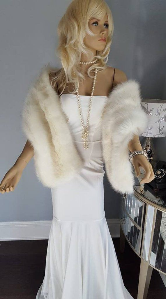 Luxury Vegan Faux Fur Bridal Shawls Stoles Wraps Shop Luxuryvintagegirl Com Bridal Fur Vintage Fur Stole Wedding Fur